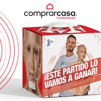 balon en caja niña cancer